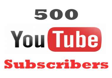 give you 500 Youtube permanent subscribers guarantee