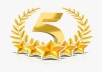 Provide 30 Facebook Fanpage 5 star Reviews