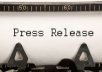 Write Press Release and submit to top 30 PR submission sites