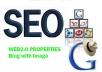 Create 25 Authority Web2 Blog with Image, Manual SEO Link Wheel