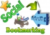 Offer 30 Manual PR10 to PR5 social bookmark backlinks