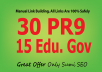 manually do 30 PR9-7+15 EDU Backlinks From Authority Domains