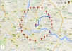 create a Google map AAA+  with 25 pointers and 1 driving  directions