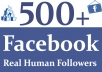 provide 500 Facebook Real and Active Followers