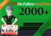 do 2000 dofollow live backlinks for google ranking