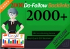 do 2000 dofollow live backlinks for google ranking