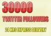 add 30500+ plus AAA Twitter Followers To Your TwitTer Profile Follow In 15 Hrs