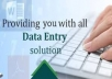 do data entry, data analysis, data mining and data analysis for $10