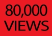give you 80,000 youtube views real and safe within 12hrs just