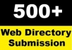 submit your web site to 500 SEO friendly high pr net directories