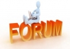 do 100 quality forum posting