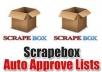 send you over 100k auto approve link list high PR , quality , EDU GOV backlinks,for link building