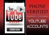 give you YOUTUBE USA PV account