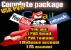 give you Complete package of USA PVA Gmail+YT+FB+Myspace+Twitter