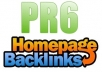 Give 20 High PR 6,5,4 Home Page Backlinks PR6-1,PR5-2,PR4-17