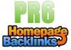 Give 20 High PR 6,5,4 Home Page Backlinks PR6-1,PR5-2,PR4-17