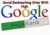 manually creat 120 social bookmarking high quality backlinks