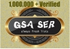 boost Your GSA Ser LpM and VpM with this huge verified list of 1,000,000